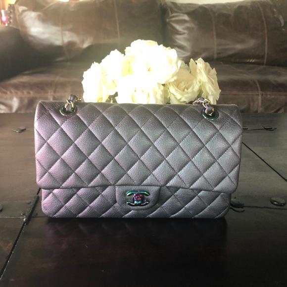 df944de6f70420 CHANEL Bags | Iridescent Purple Medium Classic 2 Nwt 16c | Poshmark